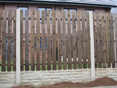 Single pailing fence panels from Cudworth Concrete Fencing, Monk Bretton, Barnsley