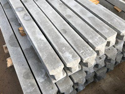 Slotted Concrete posts, Barnsley, available from Cudworth Concrete Fencing